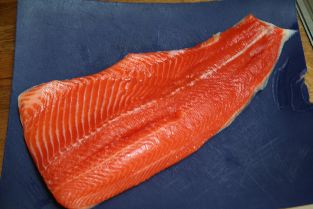 Fresh Salmon ready to smoke