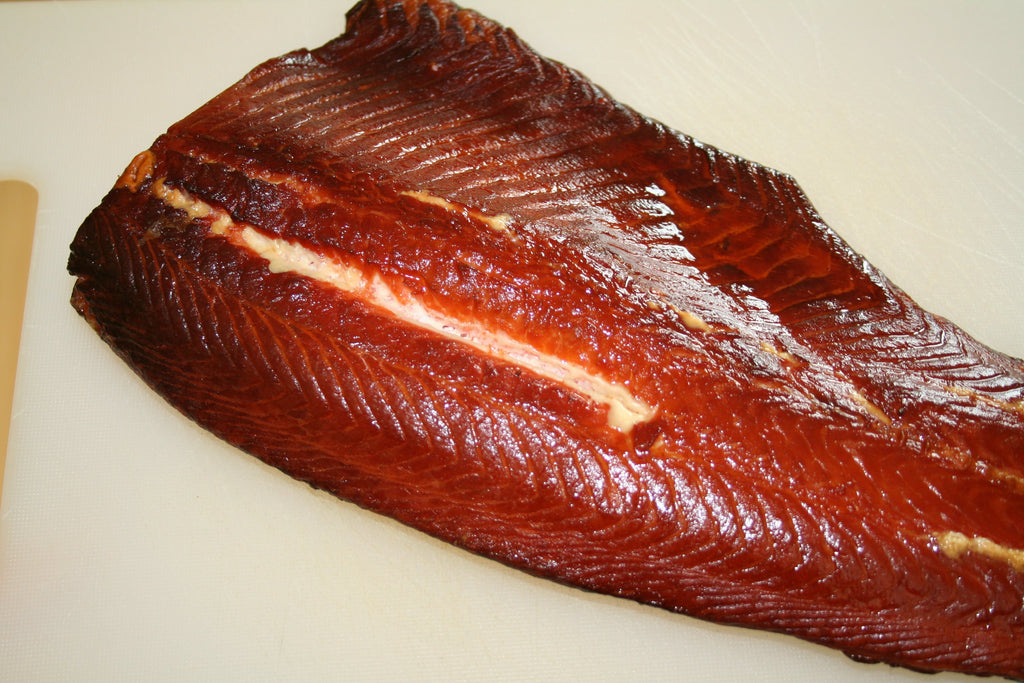 Fresh home smoked salmon