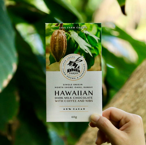 Hawaiian Dark Milk Chocolate with Coffee + Nibs