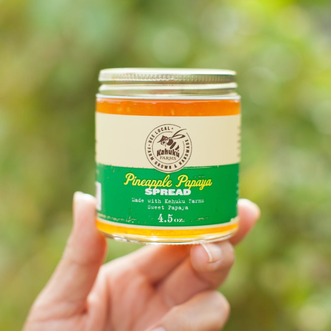 Hawaii farm natural papaya pineapple spread