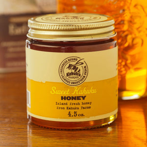 honey from well-treated bees! Farm natural honey from the North Shore of Oahu
