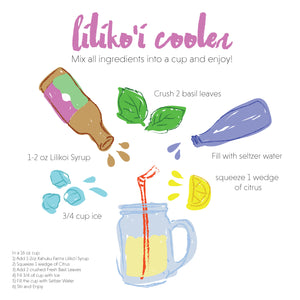 Lilikoi Cooler recipe using fresh farm ingredients