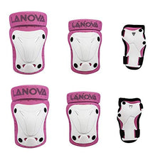 LANOVAGEAR Kids Adjustable Protective Gear Knee Elbow Pads Wrist Guard for Multi  Sports Safety Protection Inline ... 317511dddd