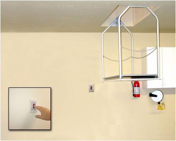 Versa Lift Model 24M Corded Pendant 17-20 ft Attic Storage Lift - Storage Lifts Direct Free up your garage shelving. Improve your garage organization. Call Storage Lifts Direct today.