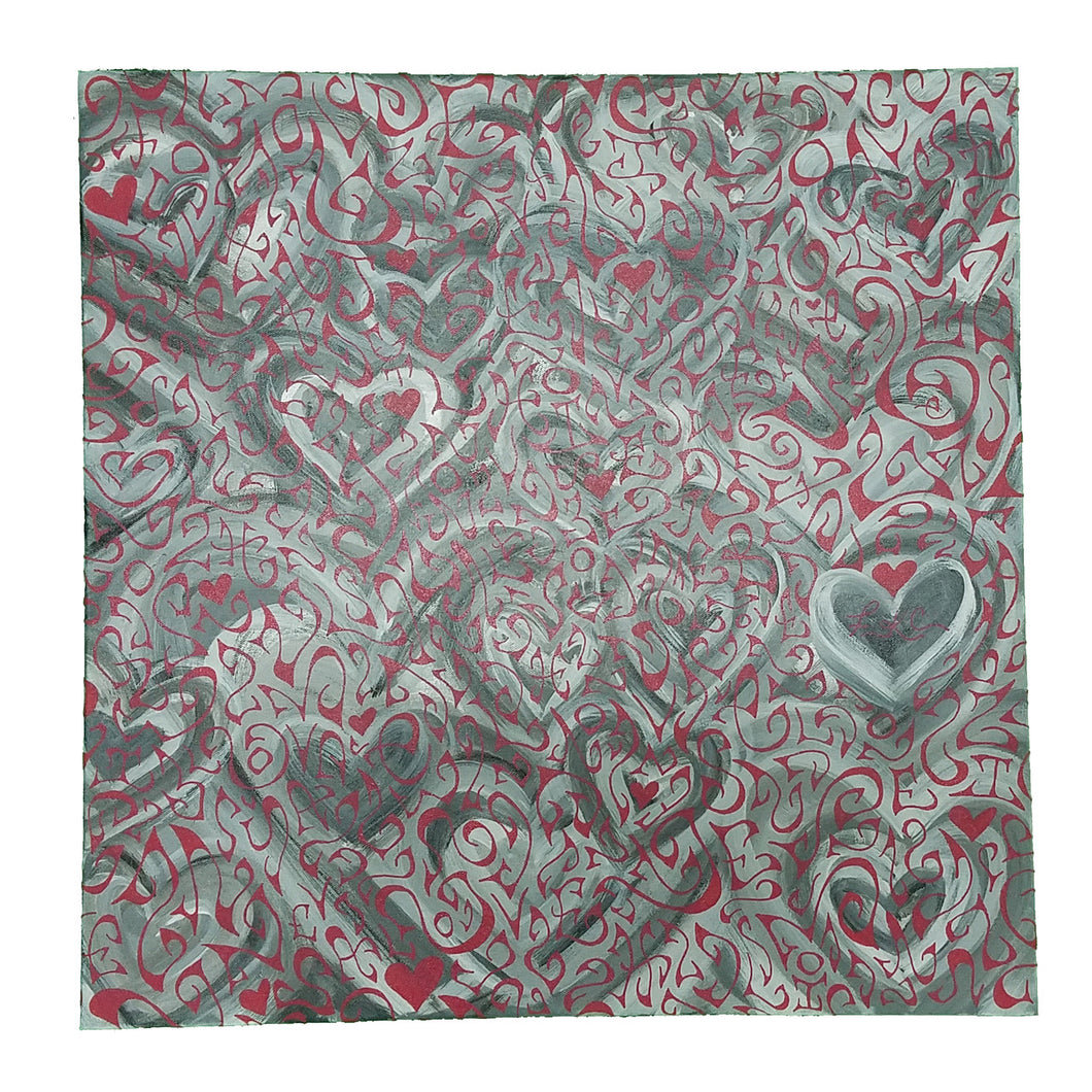 Love Over Hearts Canvas