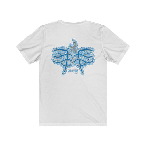 Blue Blades on Back Tee