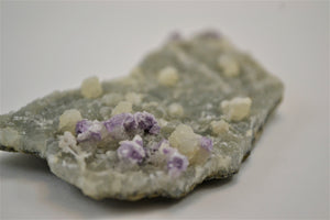 Fluorite with Barite and Quartz