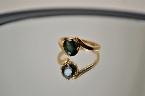 Bi-Color Blue & Teal Sapphire Ring