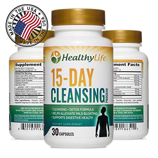 Colon Cleanse Detox Formula By Healthylife Helps Lose Weight Aids Weight Loss 30 Capsules 15 Day Cleansing Program
