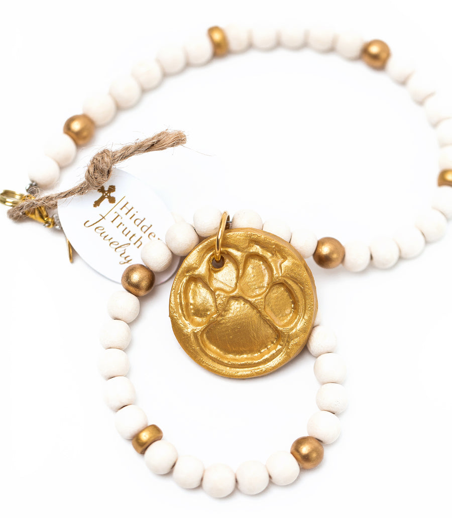 Wooden Small Tiger Paw Necklace (3 Colors)