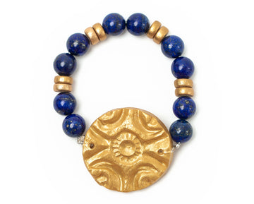 Lapis Lazuli with Fancy Circle Bracelet