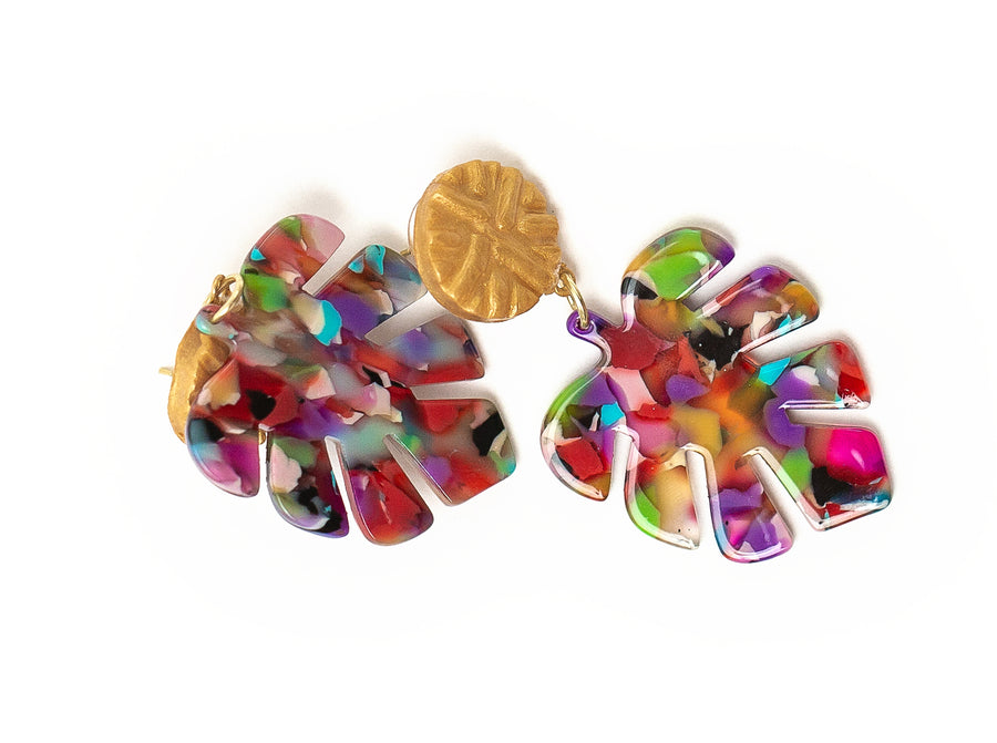 Multi-Colored Leaf Dangles