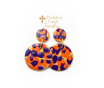 Orange & Purple Double Dangles