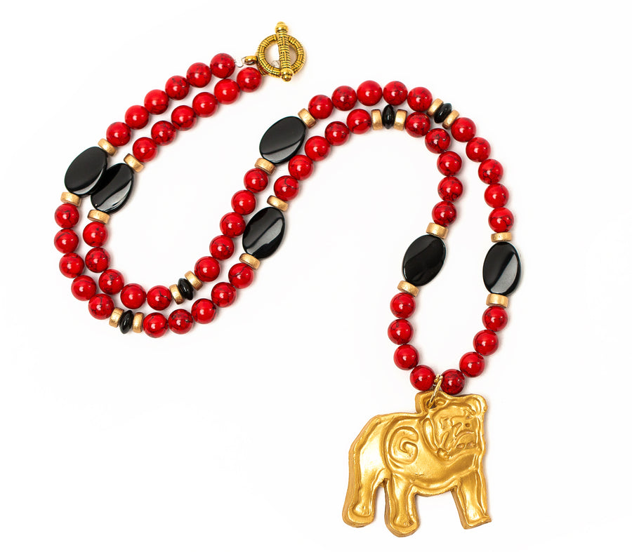 Red Jade and Black Onyx with Georgia Bulldog