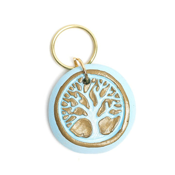 Blue Tree of Life Keychain