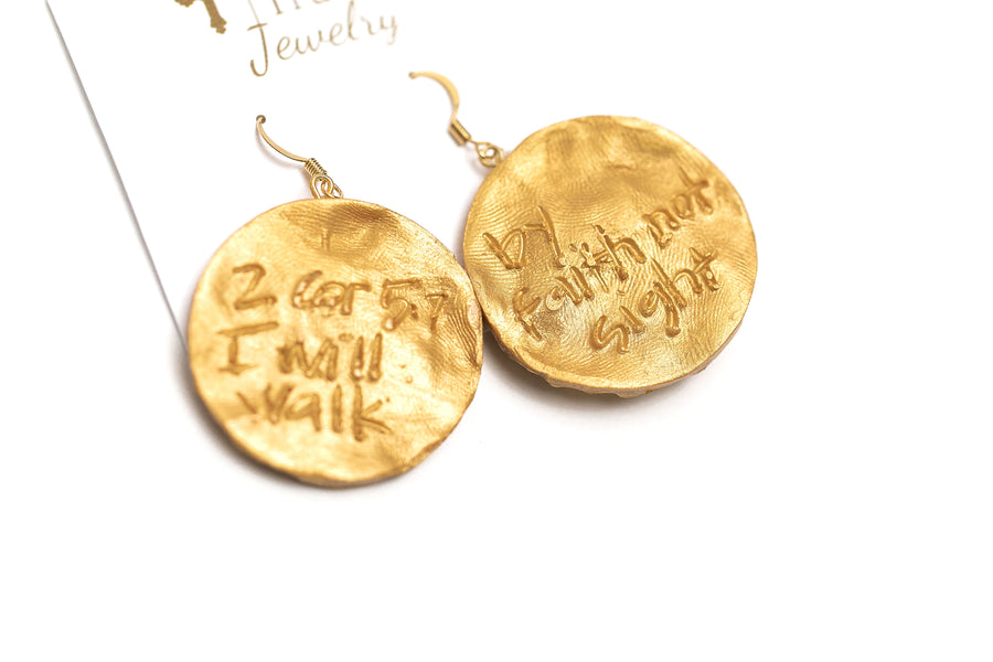 Fancy Circle Dangle Earrings