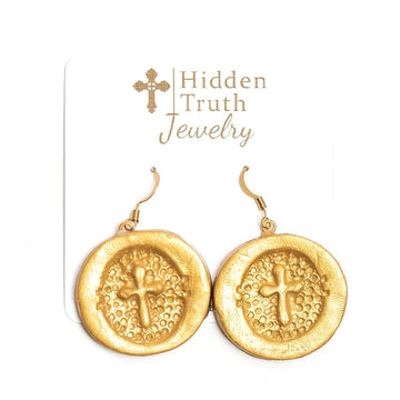 Harper Cross Dangle Earrings
