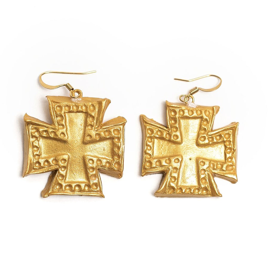 Elizabeth Cross Dangles Earrings