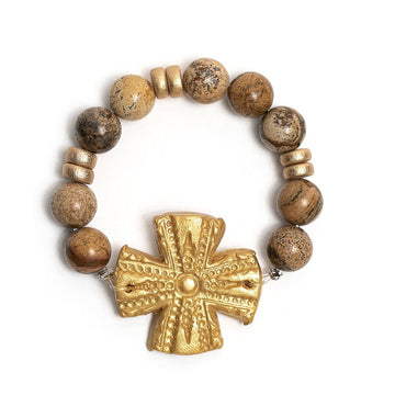 Picture Jasper with Rachel Cross Bracelet