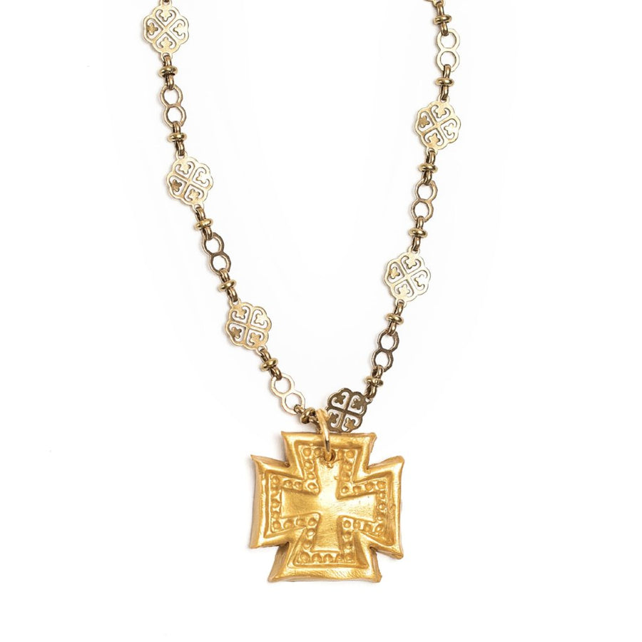 Vintage Gold Chain with Elizabeth Cross