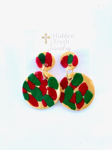 Holiday Confetti Double Dangles