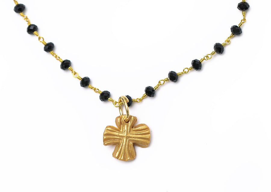 Black Onyx Chain with Julia Blair Cross