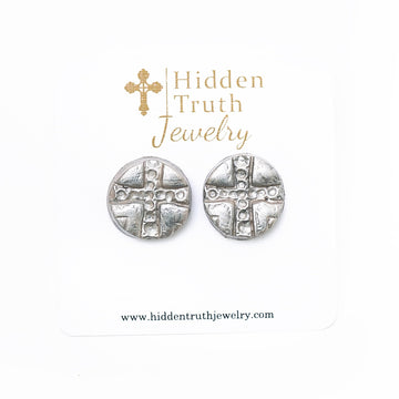 Silver Leah Studs
