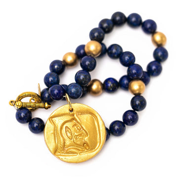 Lapis Lazuli with Round Blue Devil Necklace