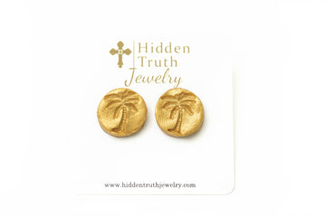 Palmetto Tree Stud Earrings