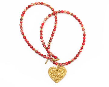 His Heart for You - Red Sea Sediment Jasper Necklace