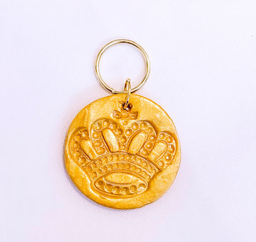 Golden Crown Keychain (Fight Corona Fear)
