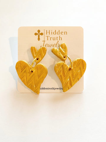 Golden Heart Dangles