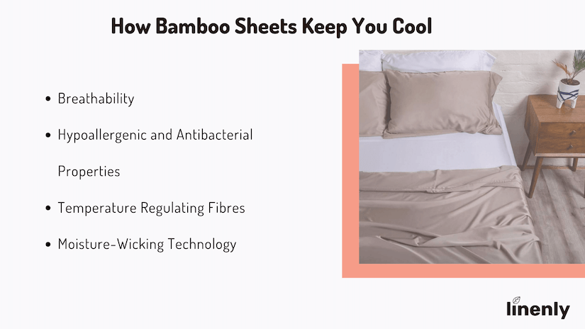 Are bamboo sheets cooler than cotton infographic