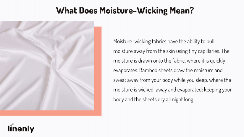 Bamboo sheets moisture wicking infographic