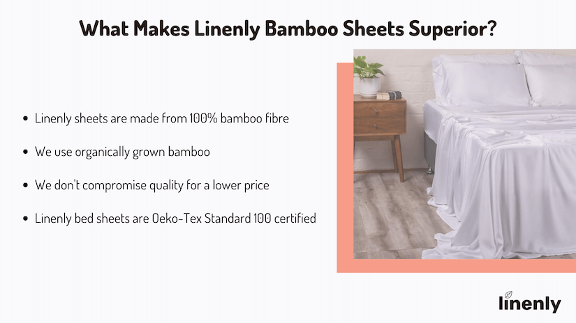 why linenly bamboo sheets are the best infographic
