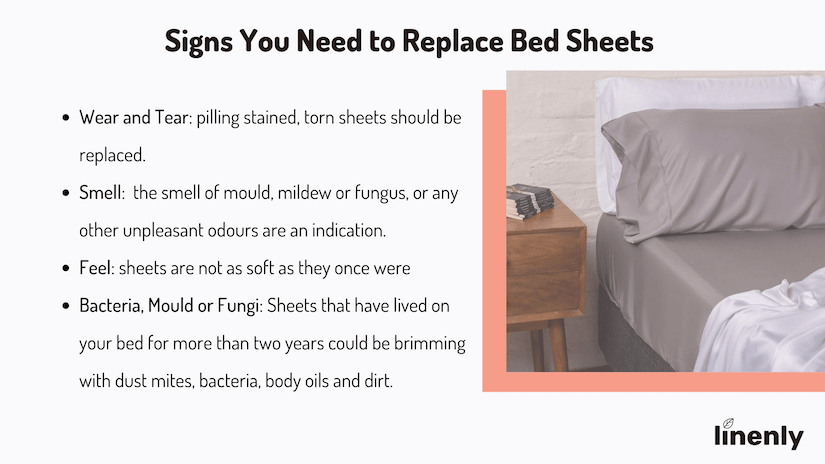 when to replace bed sheets infographic