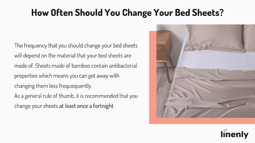 How often should you change bed sheets infographic
