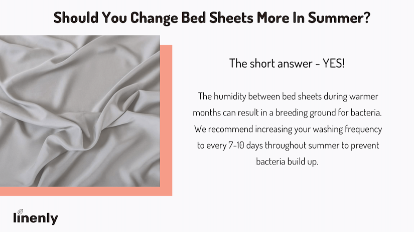 How often should you change bed sheets in summer infographic
