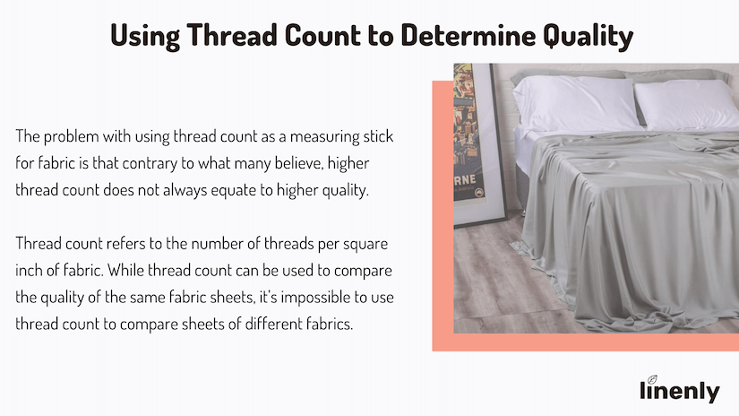 using thread count to determine quality of bed sheets infographic