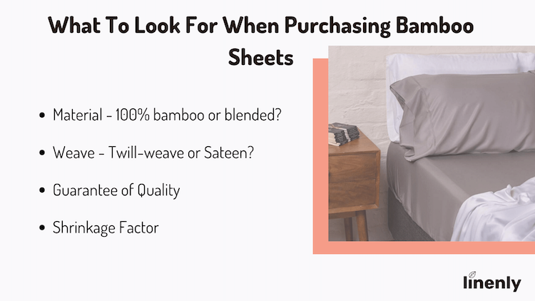 what to look for when purchasing bamboo sheets