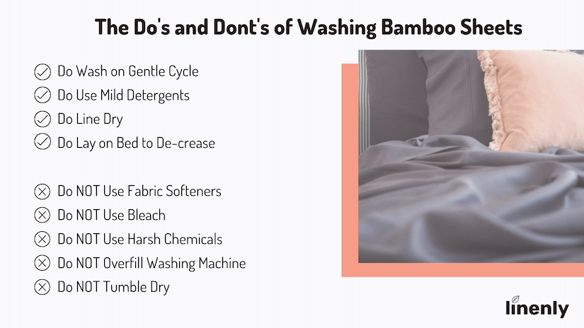 how to wash bamboo sheets