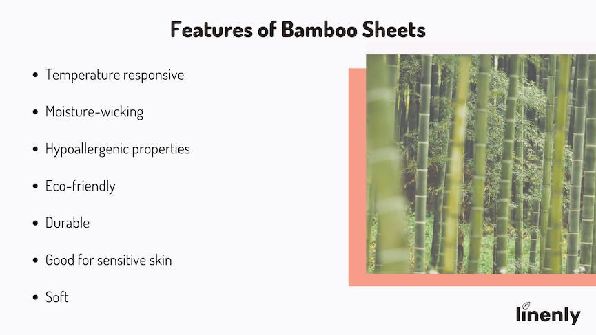Features of bamboo sheets