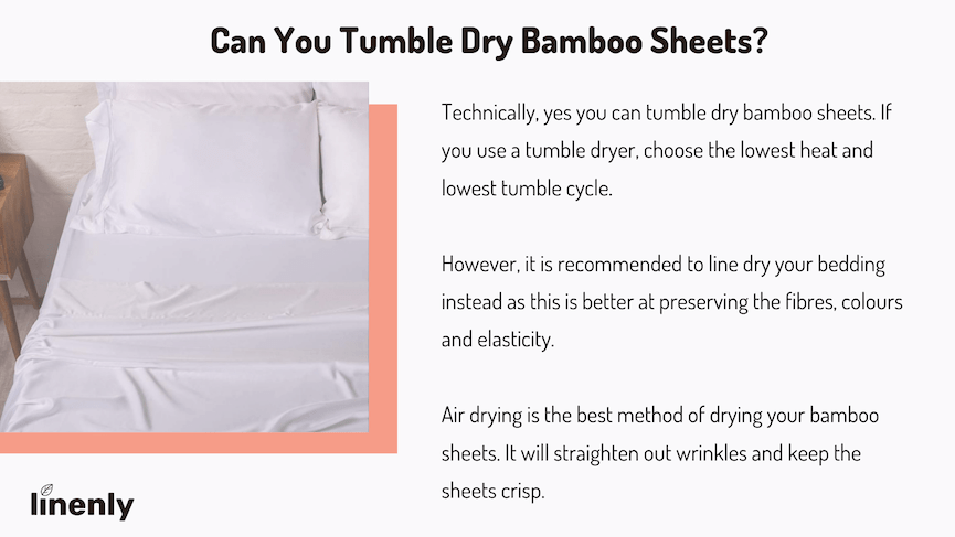 can you tumble dry bamboo sheets