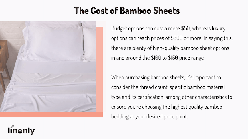 how much do bamboo sheets cost