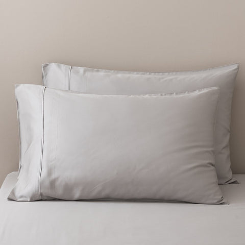100% Organic Bamboo Pillowcase Set - Silver - Pillowcase Set
