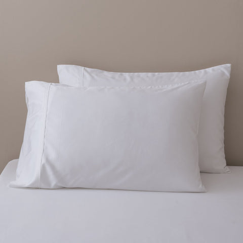 100% Organic Bamboo Pillowcase Set - White - Pillowcase Set