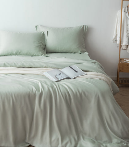 linenly bamboo quilt cover - sage