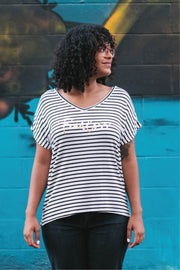 FEARLESS Striped Dolman Top
