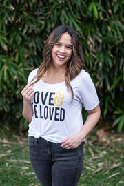Deluxe LOVE & BE.LOVED Slouchy Tee
