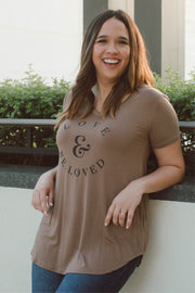 All-Around LOVE & BE.LOVED V-Neck Top